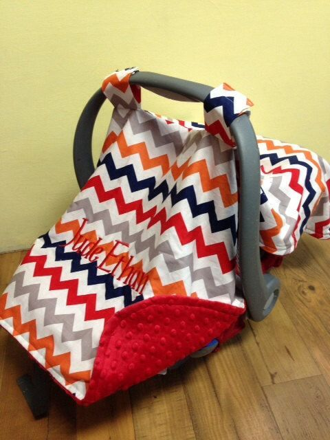 Baby infant boy carrier canopy car seat tent cover minky chevron monogram personalized gift on Etsy & Baby infant boy carrier canopy car seat tent cover minky chevron ...