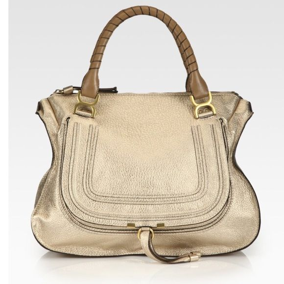 cc7a919bf6e4 Selling this Chloe Marcie Metallic Large Satchel in my Poshmark closet! My  username is