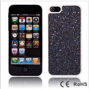 i3C Accessories (TM) Bling Glitter Hard Case Cover Skin For iPhone 5 5G 5TH - Black