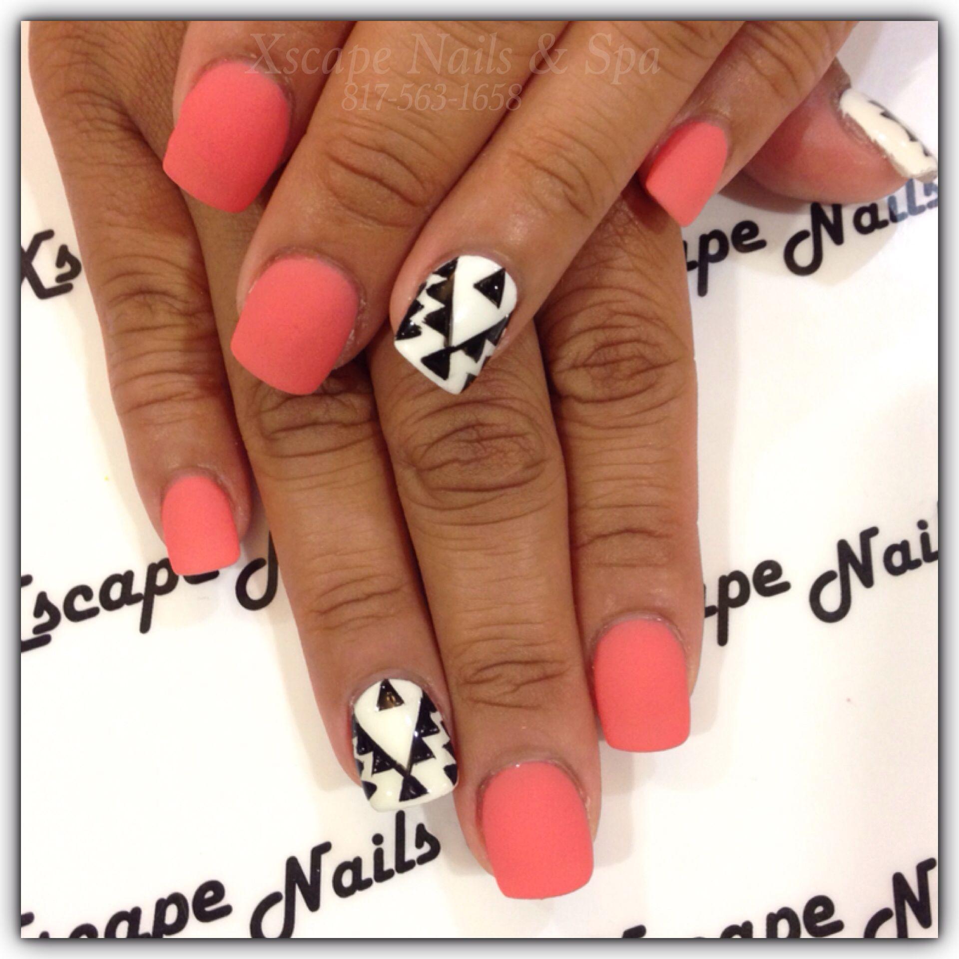 aztec nail design cute nails
