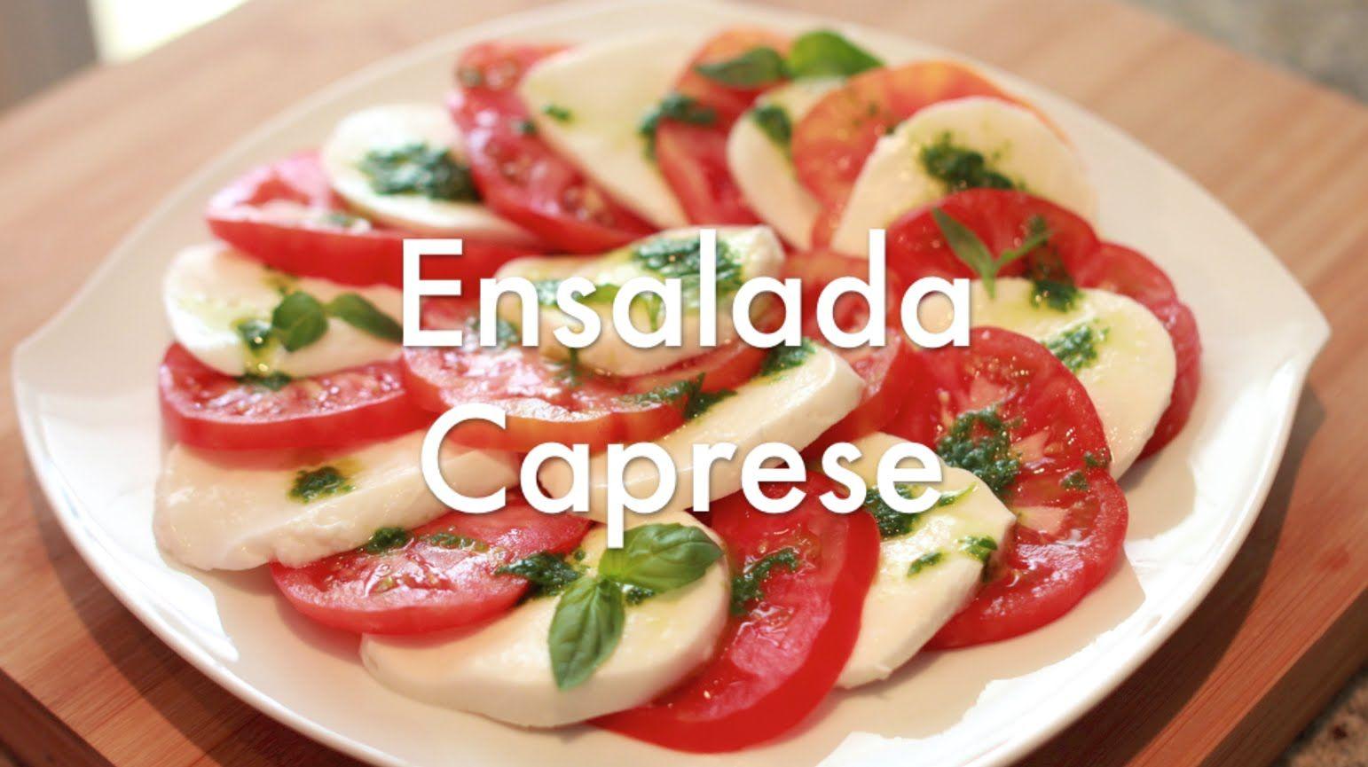 Ensalada Caprese Italiana - Recetas de Ensaladas