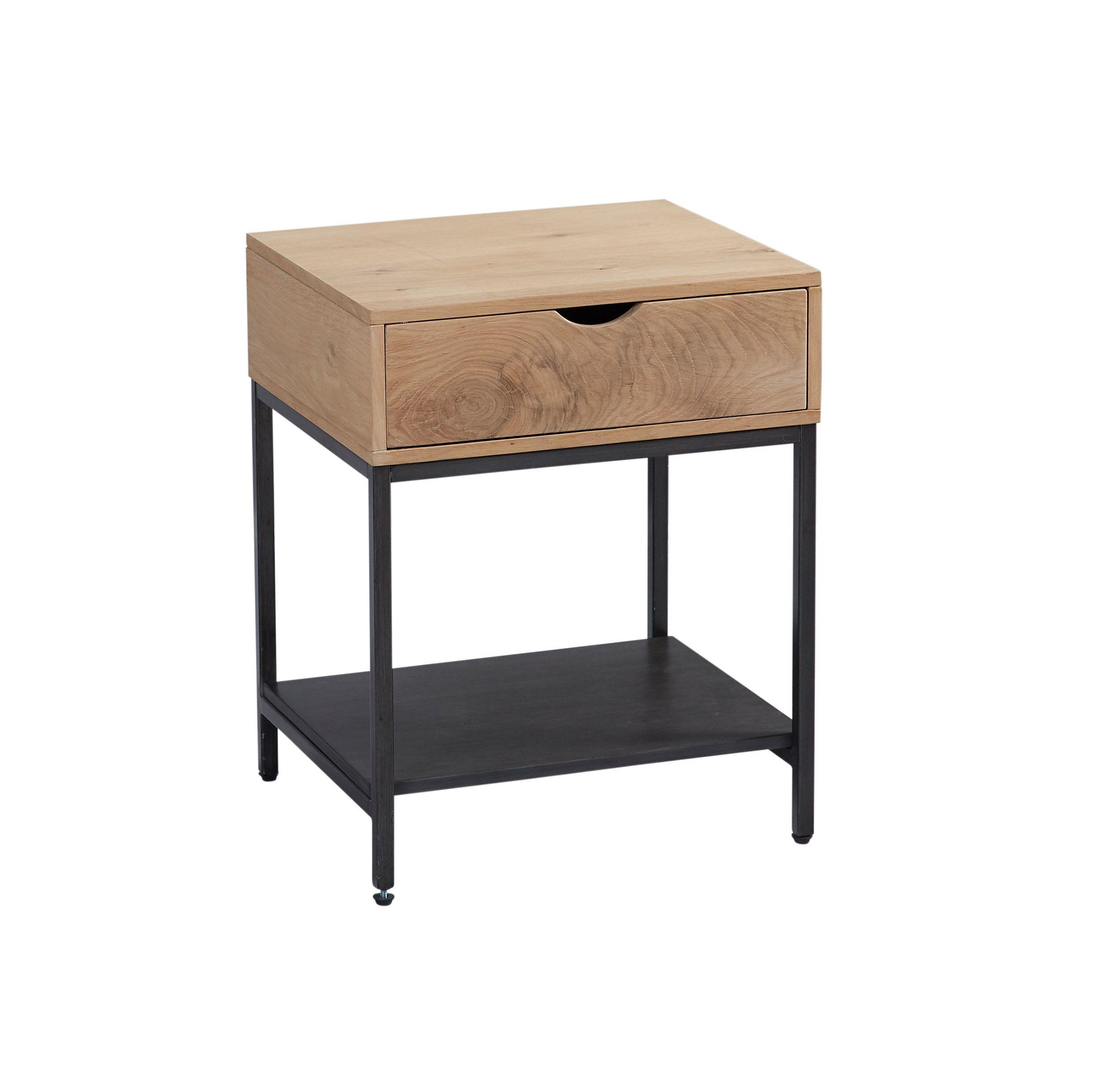 Lc Home Beistelltisch Nachttisch Mit Schublade Eiche Metalldieser Moderne Beistelltisch Im Industrial Desig Nachttisch Schublade Beistelltisch Industrial Tisch
