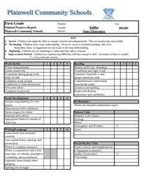 Report Card Template Excel Report Card Template Kindergarten Report Cards School Report Card