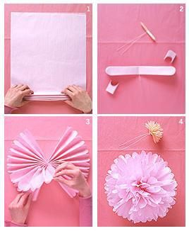 pompones de papel mafe pinterest papier deco y bricolage. Black Bedroom Furniture Sets. Home Design Ideas