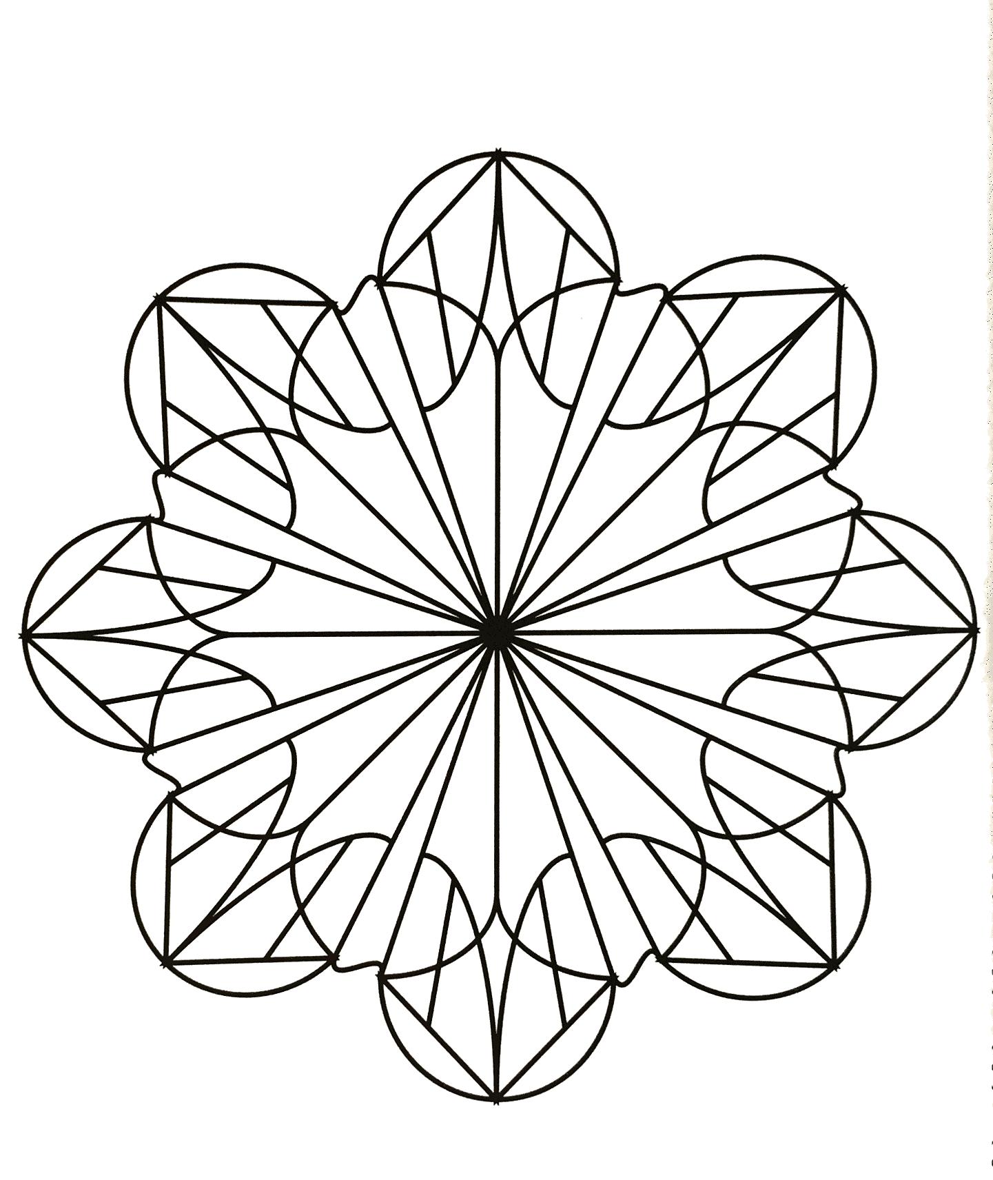 Free mandalas page mandalasgeometrictoprint colouring
