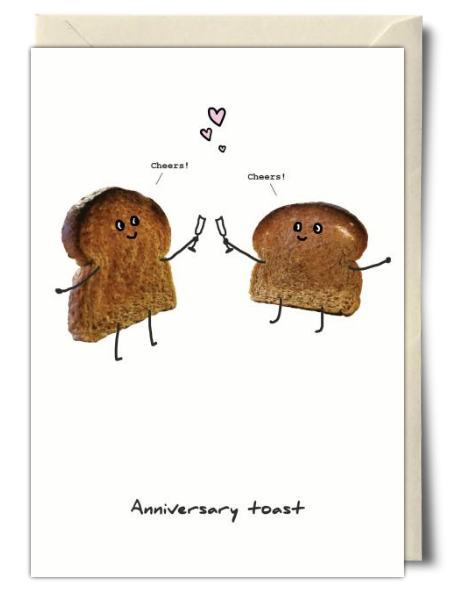 An awesome anniversary card from soula zavacopoulos greeting anniversary toast funny anniversary card from soula zavacopoulos m4hsunfo