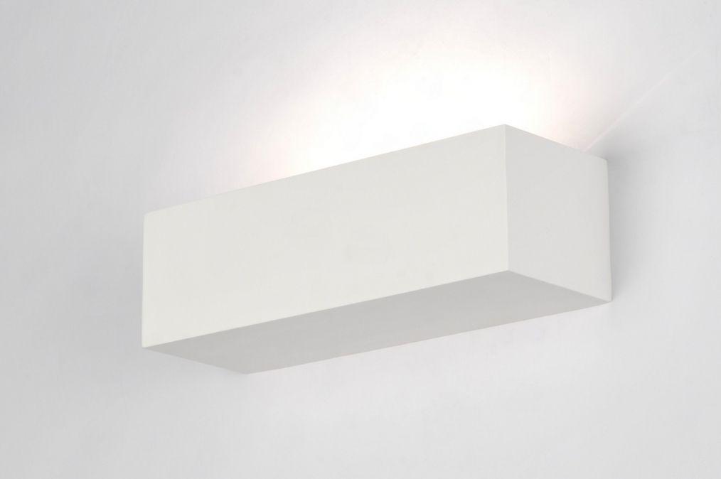 Aplique De Pared 71360: Moderno, Ceramica, Blanco, Rectangular