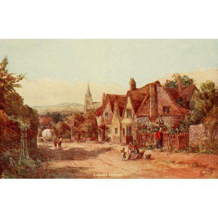 English Homes & Villages 1909 Riverhead near Sevenoaks Canvas Art - Charles E Corke (18 x 24)