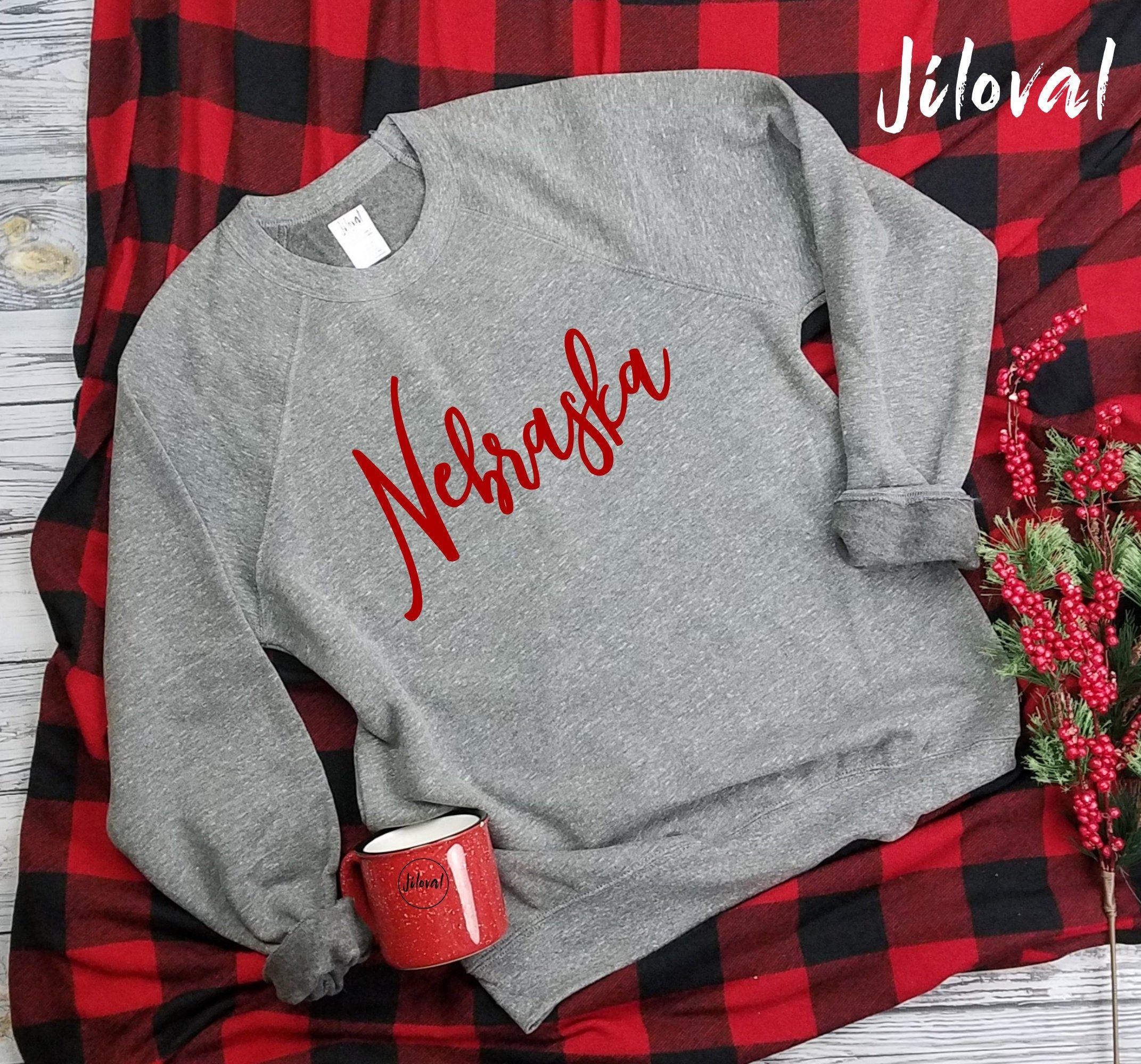 Nebraska Sweatshirt Cozy Nebraska Sweatshirt Long Sleeve Etsy Long Sweatshirt Sweatshirts Adulting Shirts [ 2000 x 2143 Pixel ]