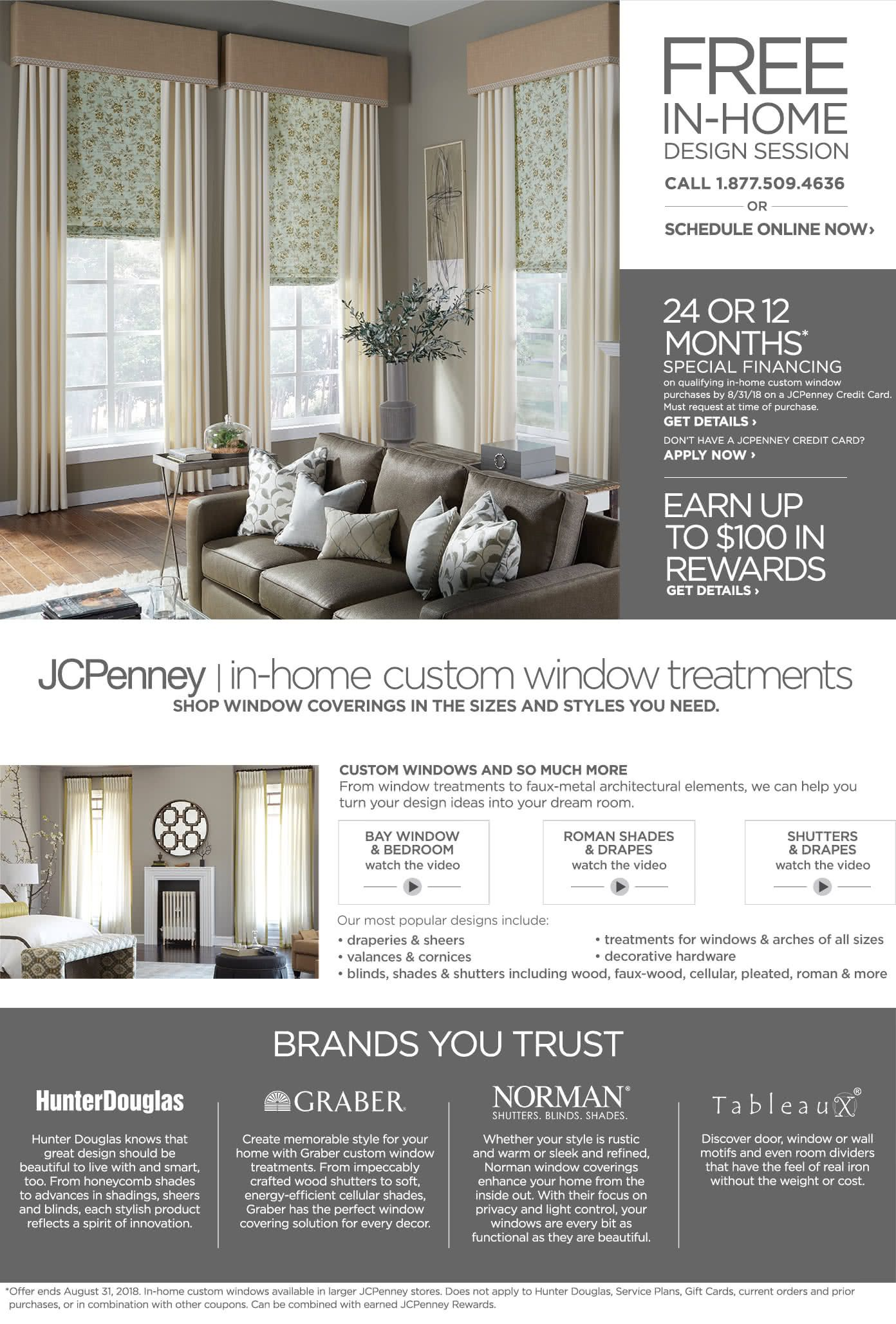 Jcpenney In Home Custom Window Treatments