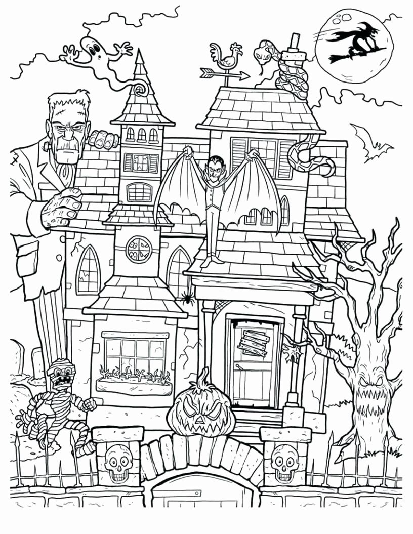 Free Printable Coloring Pages Haunted Houses Fresh Coloring Book Coloring B In 2020 Halloween Coloring Book Halloween Coloring Pages Printable Halloween Coloring Pages