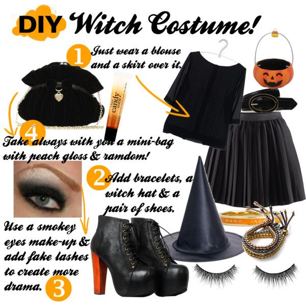 Diy Witch Costume Simple But Effective Can Probably Make This Work Out Of What I Already Have Witch Costume Diy Halloween Office Party Witch Diy