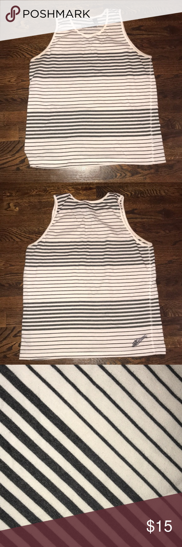 ad2164fcbeea7 Men s tank Men s tank Black and white stripes Micros Shirts Tank Tops