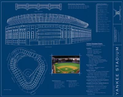 Yankee stadium blueprints mural ballpark blueprints murals your yankee stadium blueprints mural ballpark blueprints murals your way malvernweather Gallery
