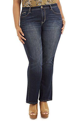 06c0eb49c23f7 WallFlower Women s Juniors Plus Size Legendary Belted Bootcut Jeans in  Renee