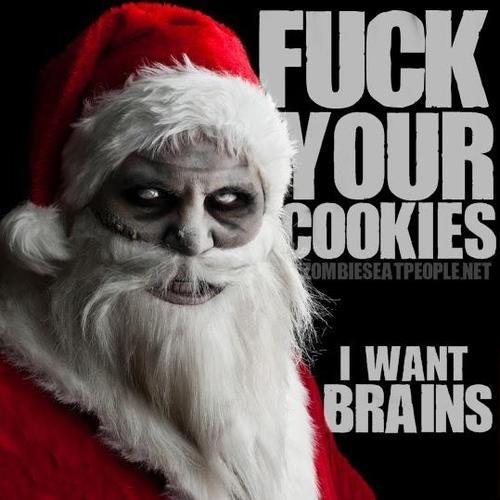 Zombie Santa Wants Your Braaaiiiinssss Nerd Life Zombie Dark Christmas