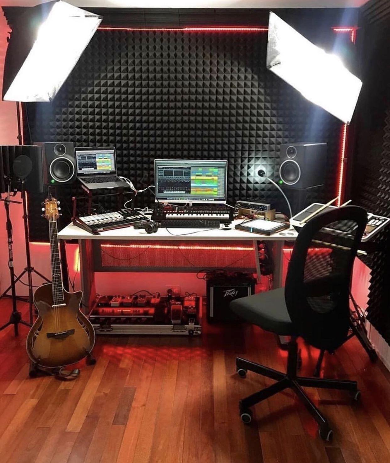 Bedroom Studio Music Studio Room Home Studio Setup Home Music Rooms Bedroom home recording studio