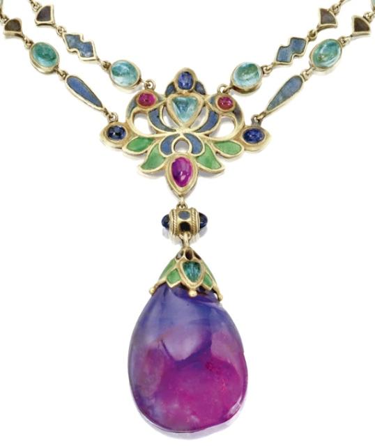 Art Nouveau Necklace By Louis Comfort Tiffany Art Nouveau Necklaces Art Nouveau Jewelry Jewelry