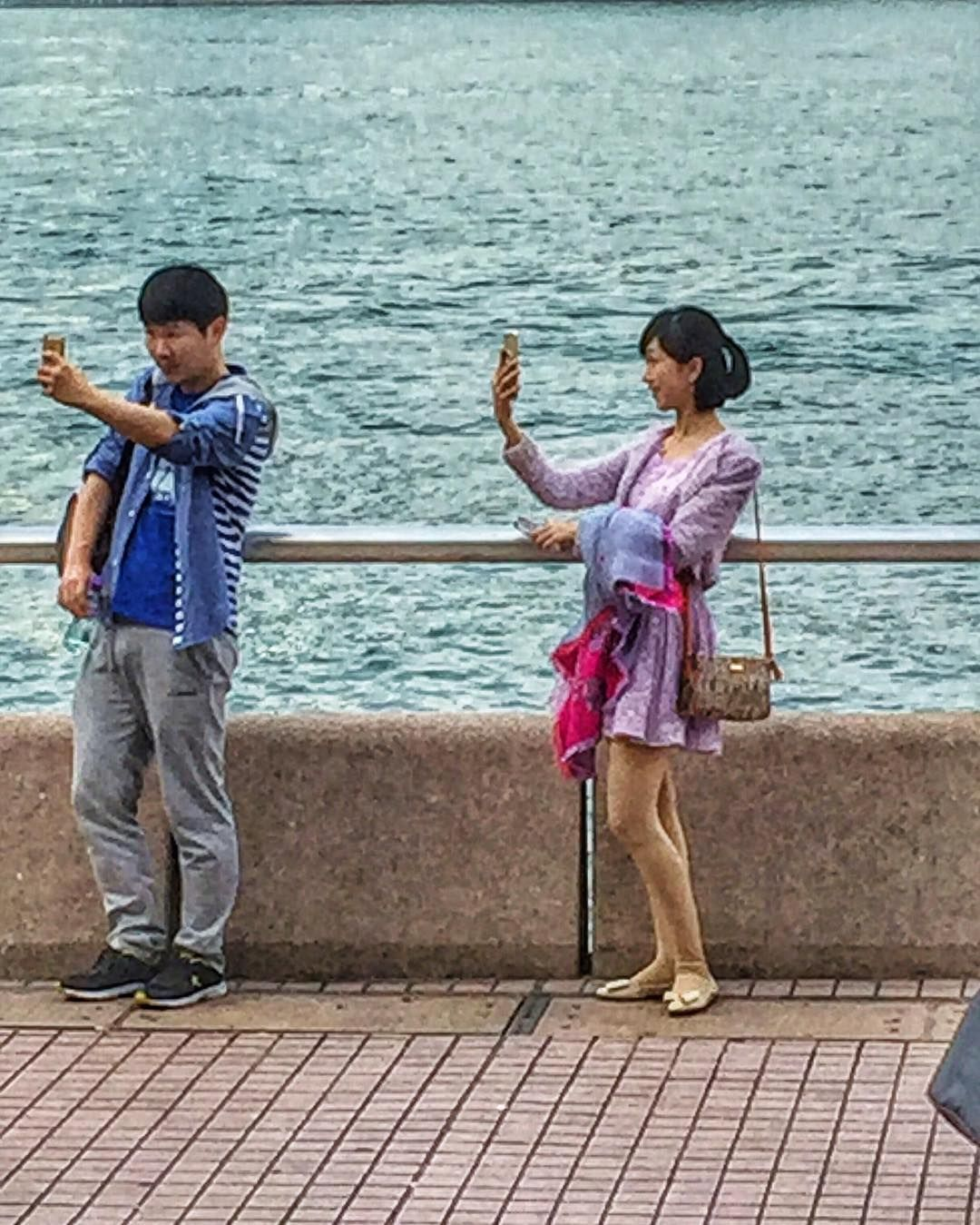 More selfie time on the pier...this time individual shots!