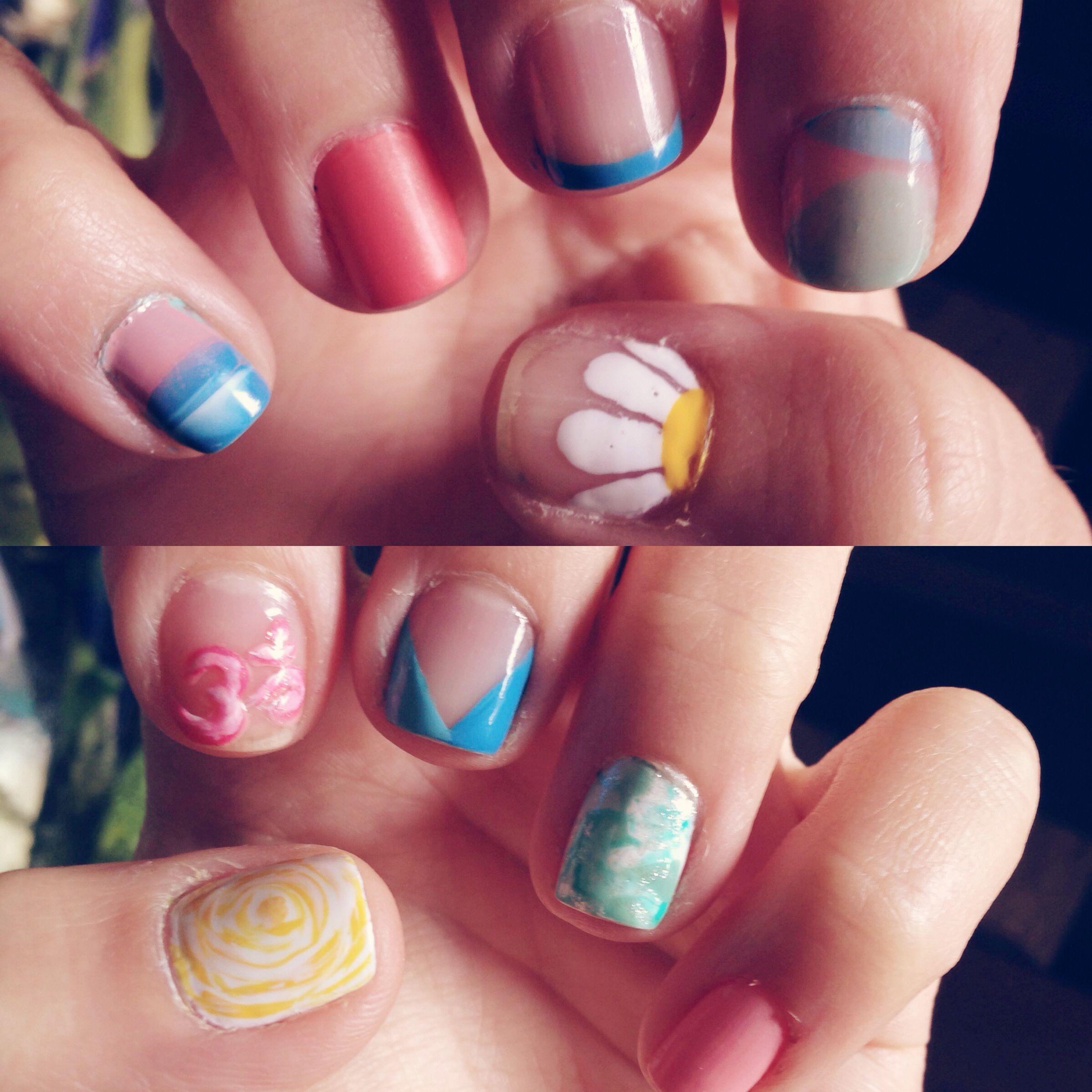 om nail art #daisy water marbling | Nails ♡ | Pinterest | Water ...
