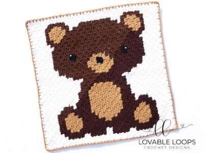 Crochet Fox C2C Baby Blanket #c2cbabyblanket Crochet Fox C2C Baby Blanket - Lovable Loops #c2cbabyblanket