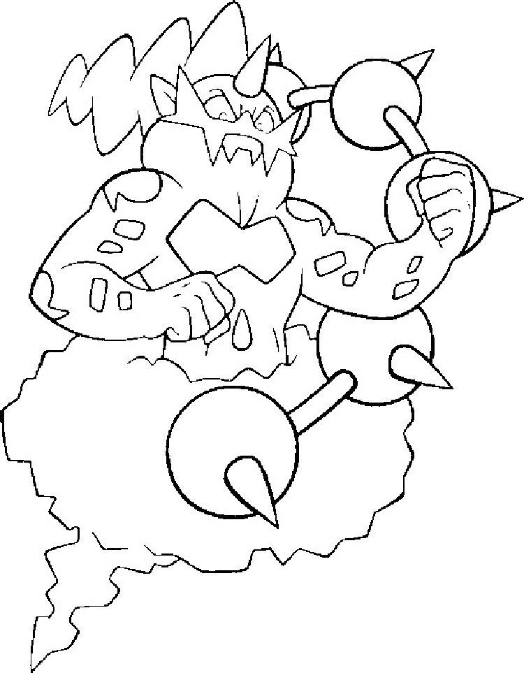 Pokemon Coloring Pages Thundurus, from New Picts category