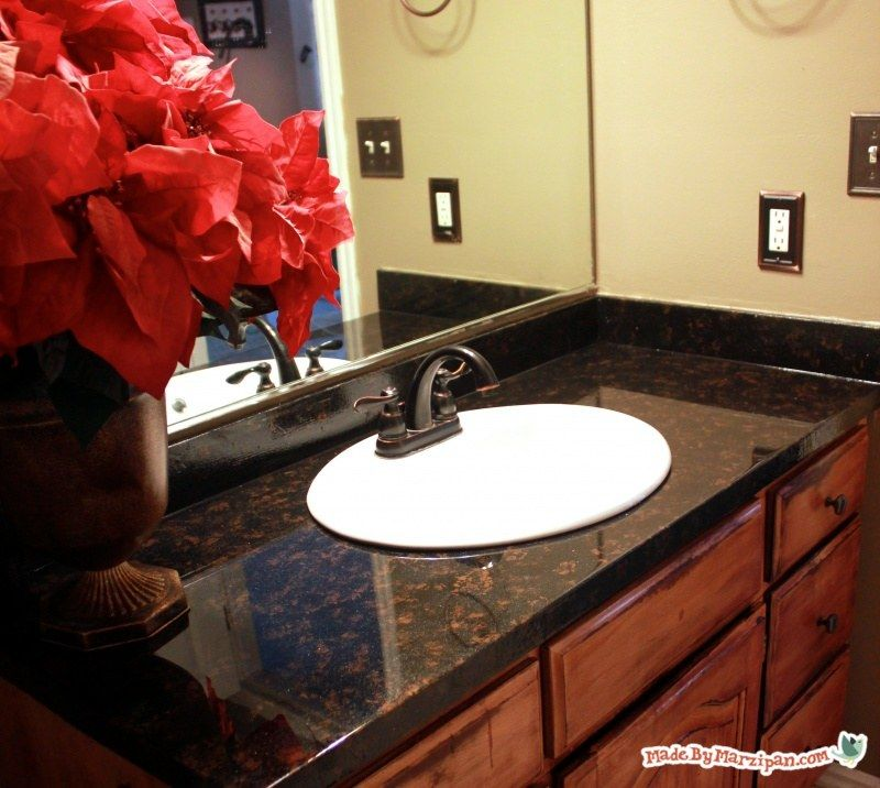 Learn How To Refinish Laminate Counters To Look Like Granite With Paint And