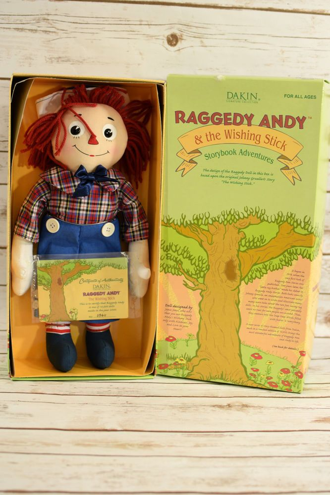 Dakin Doll- Raggedy Andy & The Wishing Stick Storybook Adventures Rag Doll #Dakin #Dolls
