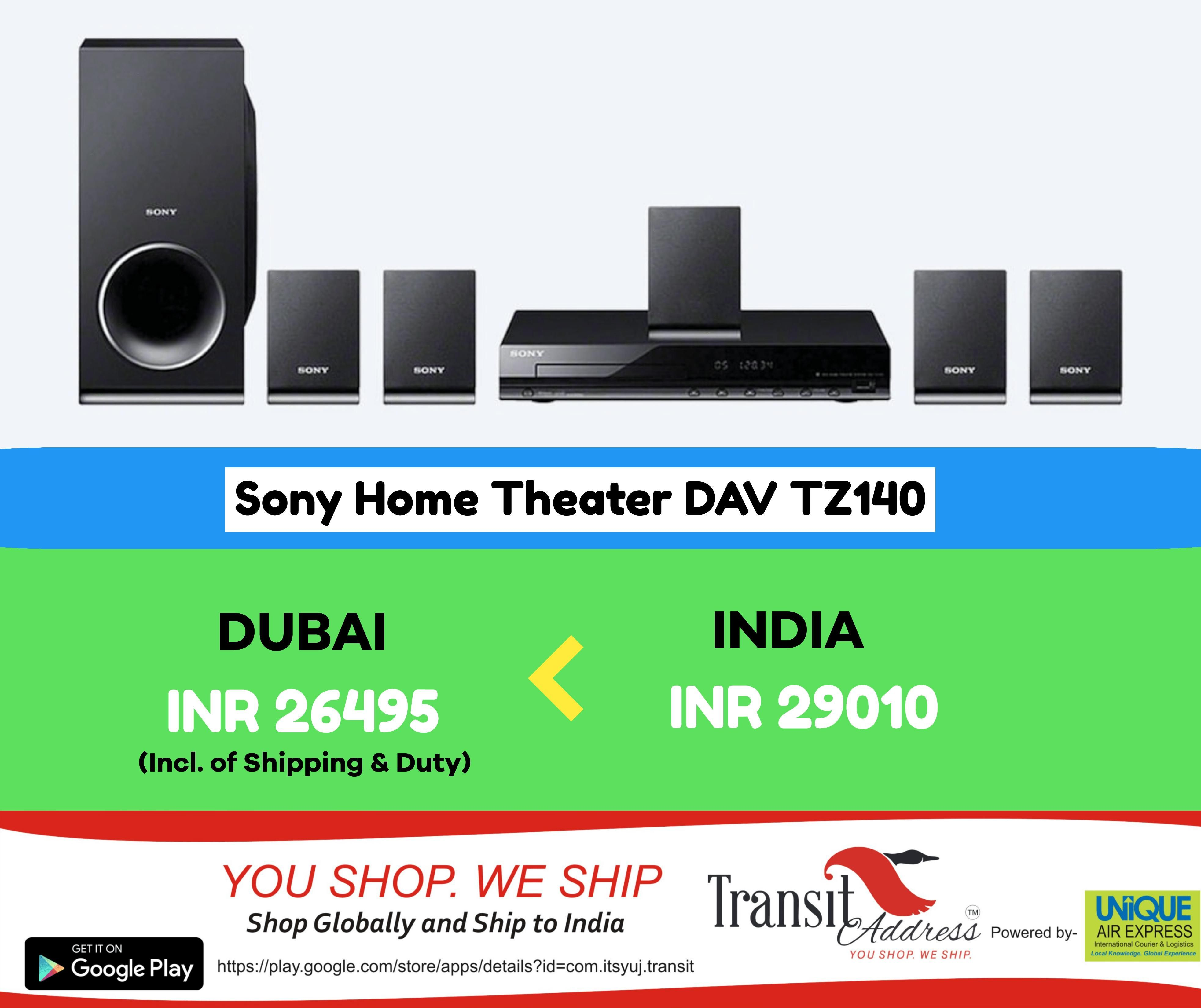 Sony Home Theater DAV TZ140 | Shop from UAE ship to India