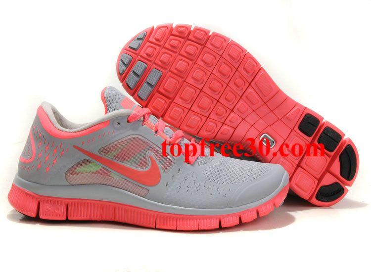 brand new 1e97e 0dab0 topfree30.com for nikes 50% OFF - Womens Nike Free Run 3 Wolf Grey Bright  Crimson Shoes