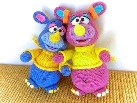 Wollnashörner Rosa & Rhino - Häkelanleitung bei Makerist | Kinder ...
