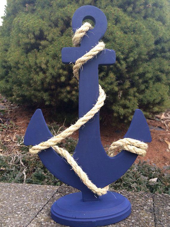 Custom Anchor Wedding Centerpiece Nautical Wedding Decor Anchor