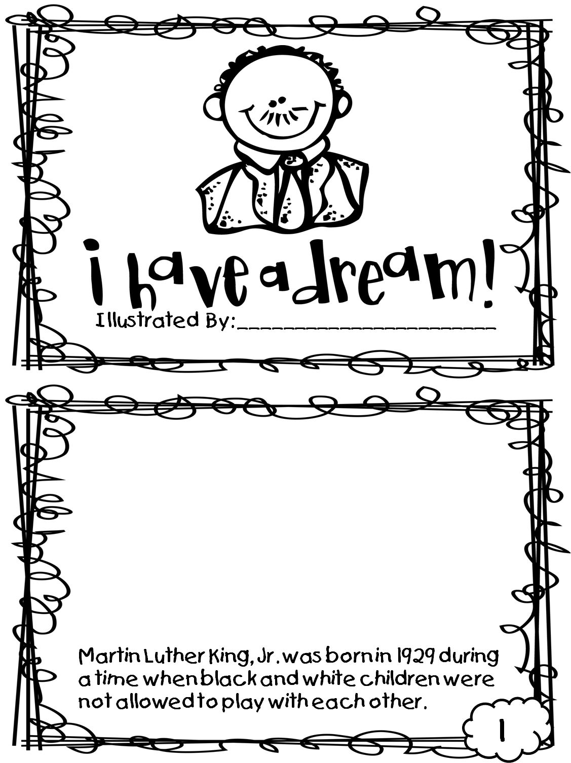 Martin Luther King Jr Coloring Pages And Worksheets At