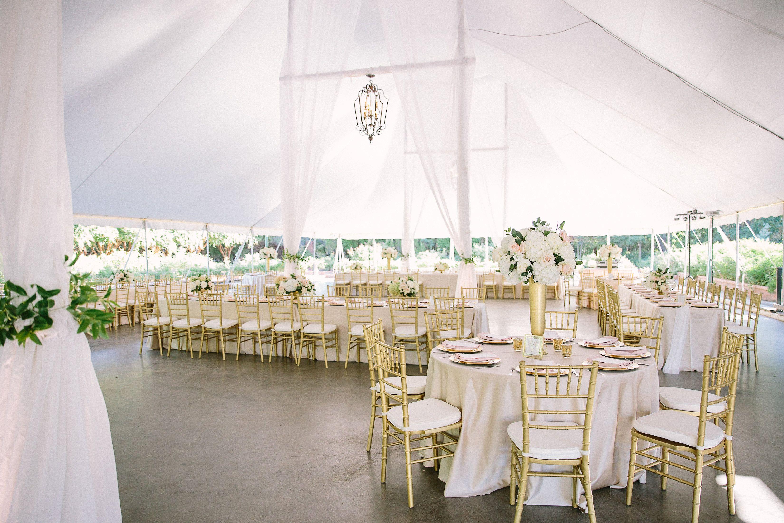 Garden wedding reception at Clark Gardnes. Photo Credit