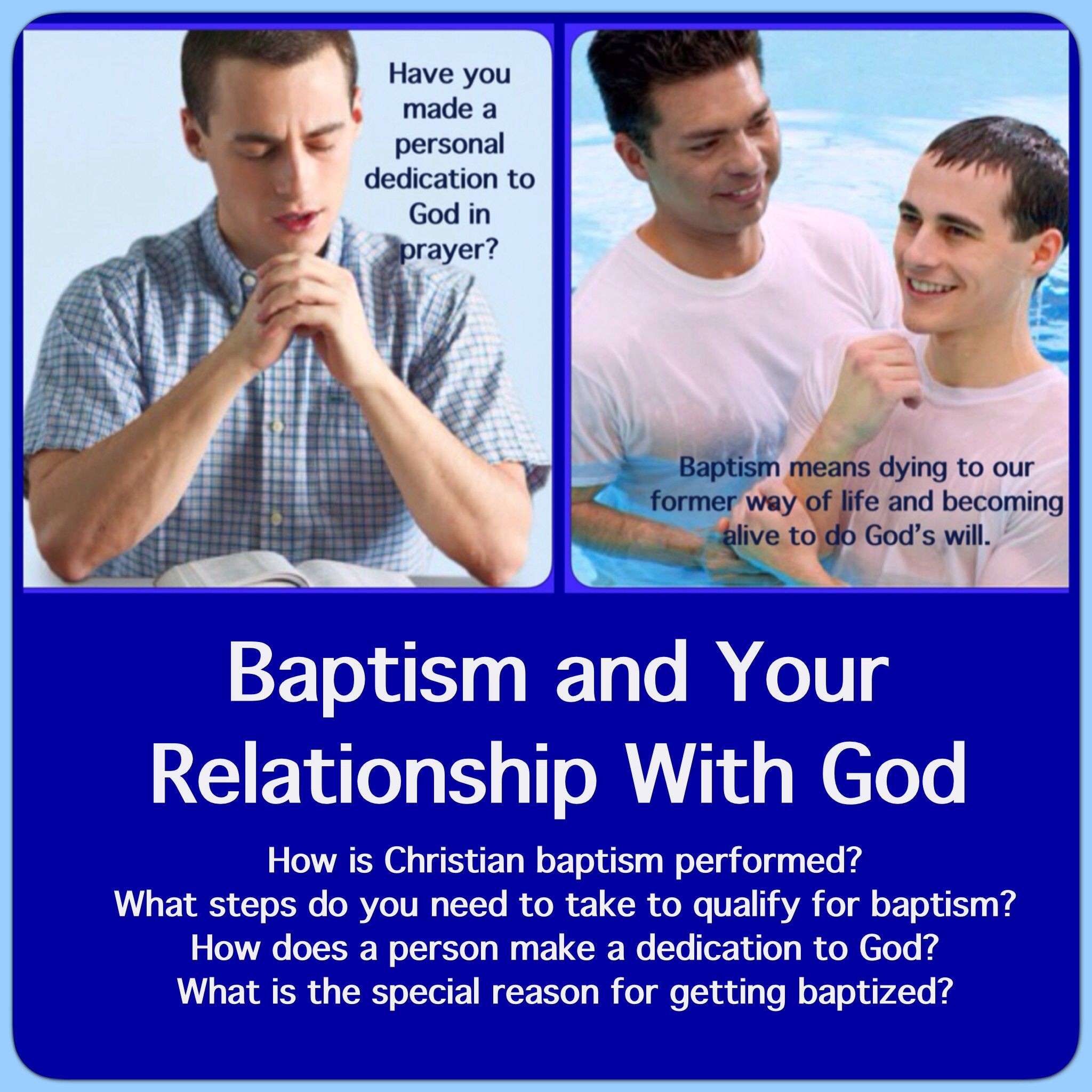 Baptism And Your Relationship With God