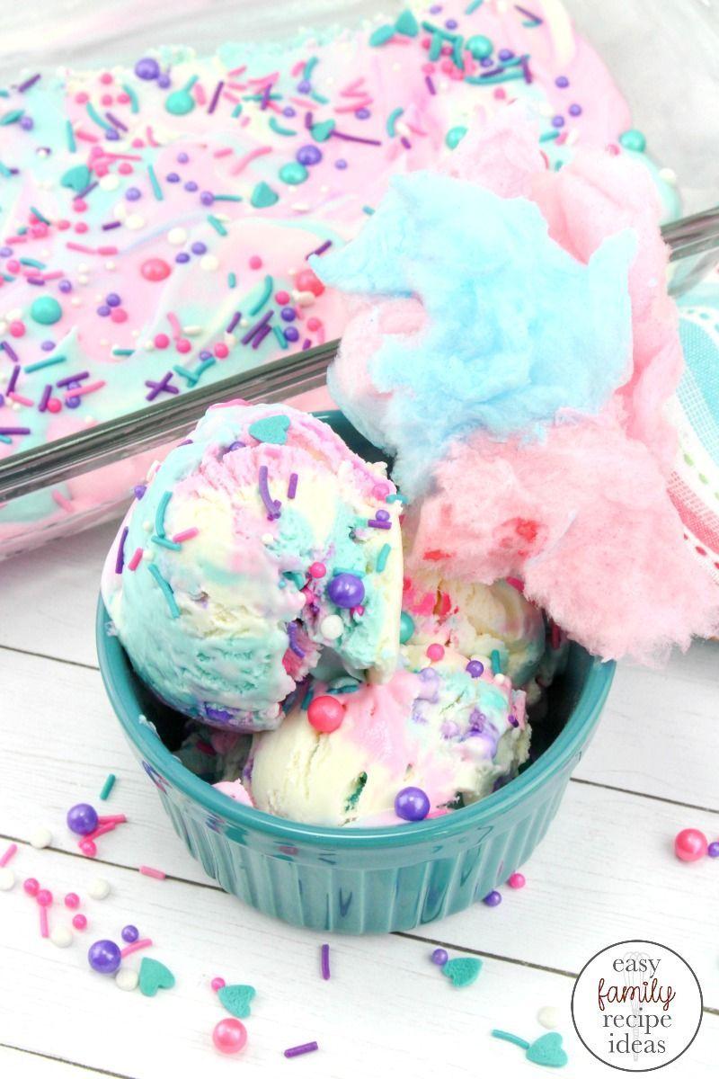 Cotton Candy Ice Cream  Easy Homemade Ice Cream for a Fun Party Idea  Easy Family Recipe Ideas artesanales caseros caseros de frutas ice cream cream cake cream design cre...