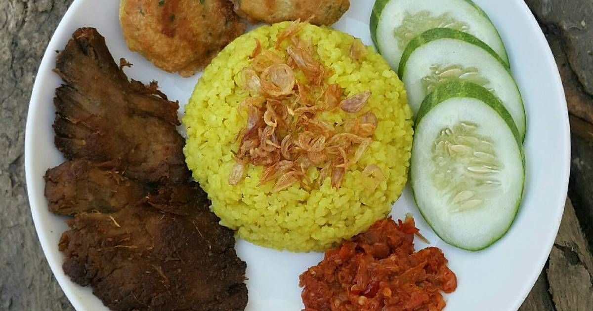 Resep Nasi Kuning Rice Cooker Dan Empal Gepuk Oleh Xander S Kitchen Resep Resep Resep Daging Sapi Makanan Dan Minuman