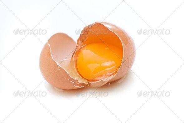 Broken Egg By Grafvision Broken Egg Isolated On White
