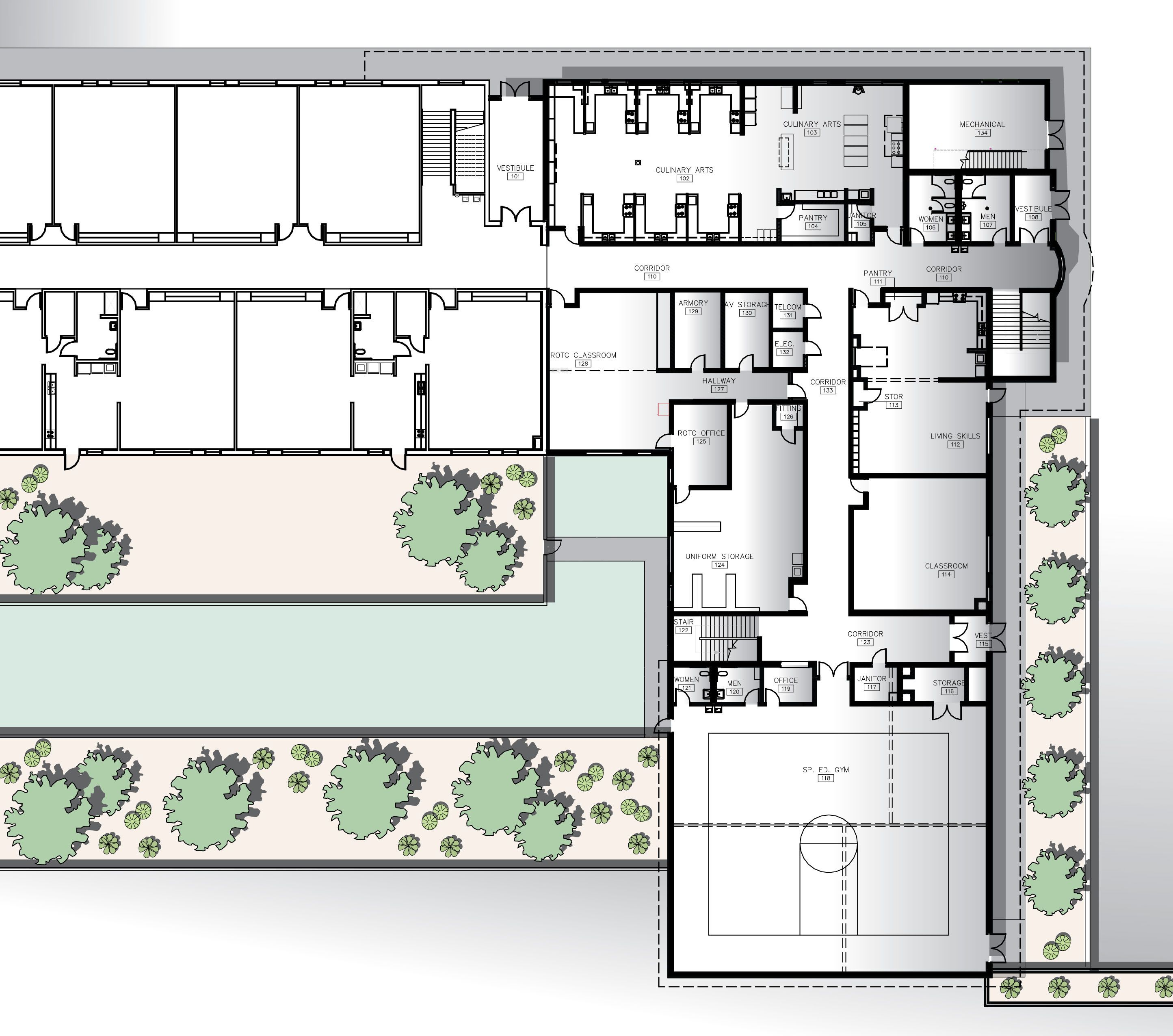 High school floor plans high school floor plan free for Architectural floor plan software