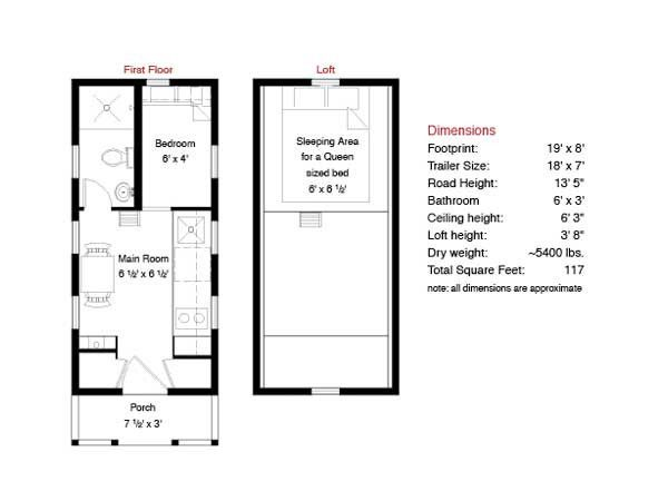 Tiny Houses For Sale – Tumbleweed Tiny House Floor Plans