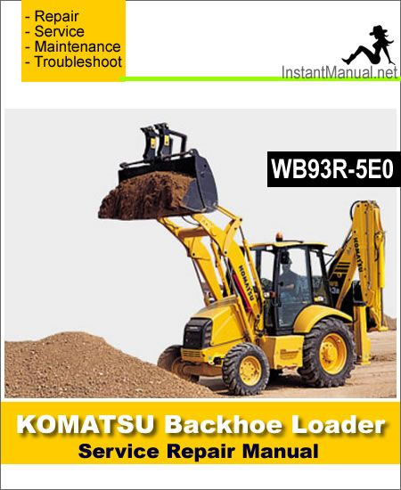 Komatsu WB93R-5E0 Backhoe Loader Service Repair Manual PDF