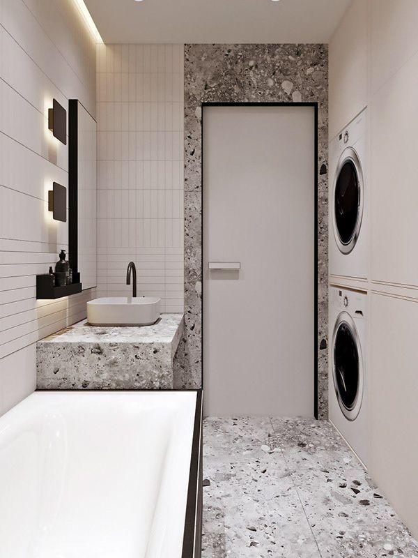 Pin By Cocojim On Butas Bathroom Remodel Designs Bathroom Design Round Mirror Bathroom