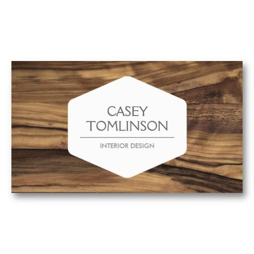 Zebra wood customizable business card for interior designers also luxe vintage modern woodgrain designer rh pinterest