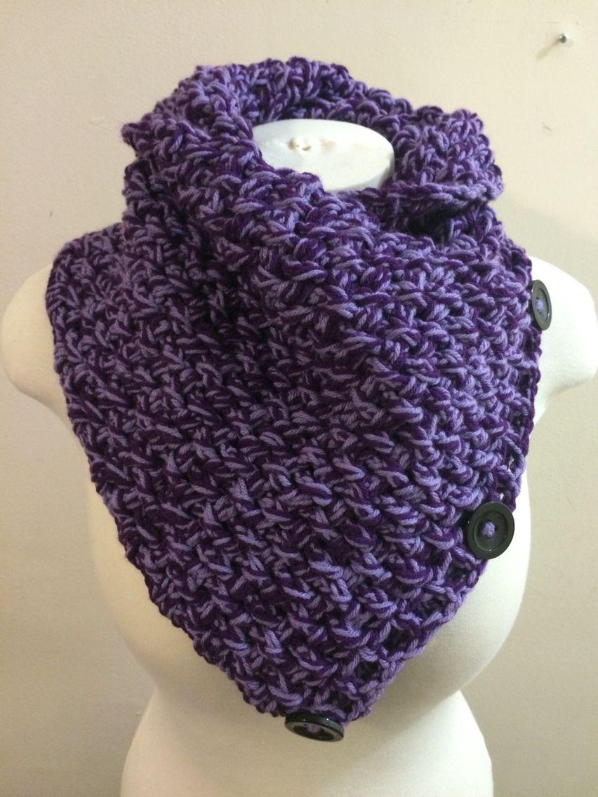 Purple and light purple cowl. 5 ways to wear it