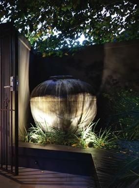 Simple Up Lighting On A Large Pot Brightens The Dark