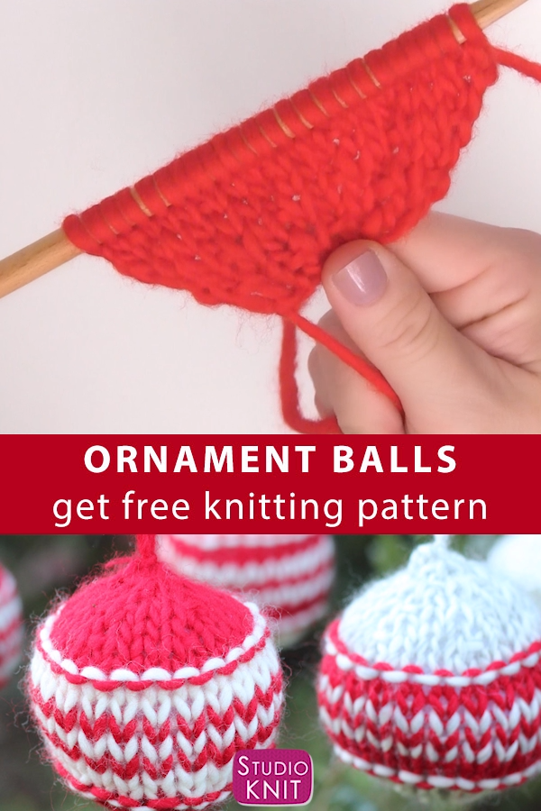 Photo of Knitted Christmas Ball Ornaments Pattern