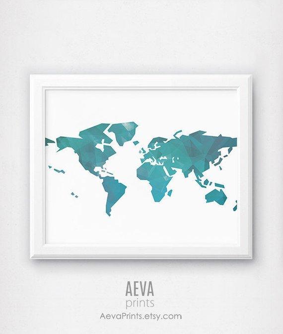 Large World Map Printable.World Map Art World Map Poster Large Map Poster Printable Map