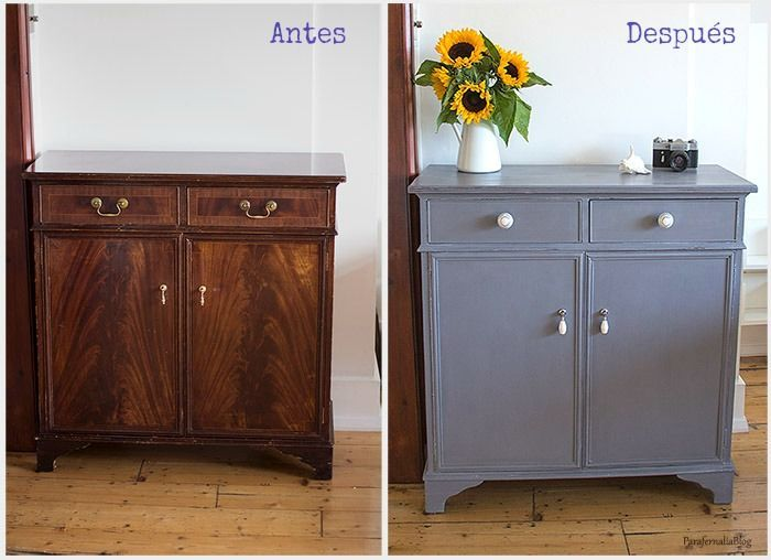 Antes y despu s transformar un mueble con chalk paint for Muebles pintados con pintura ala tiza
