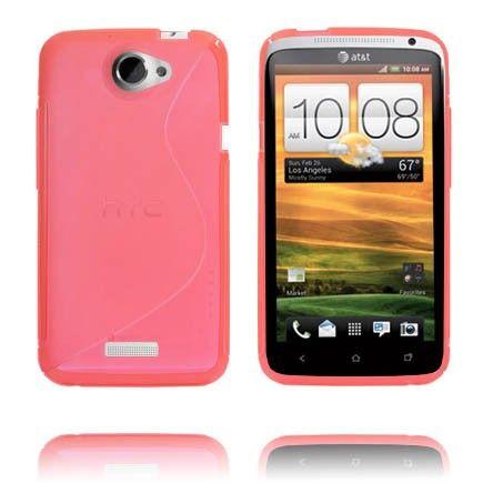 S-Line Läpikuultava (Punainen) HTC One X Suojakuori
