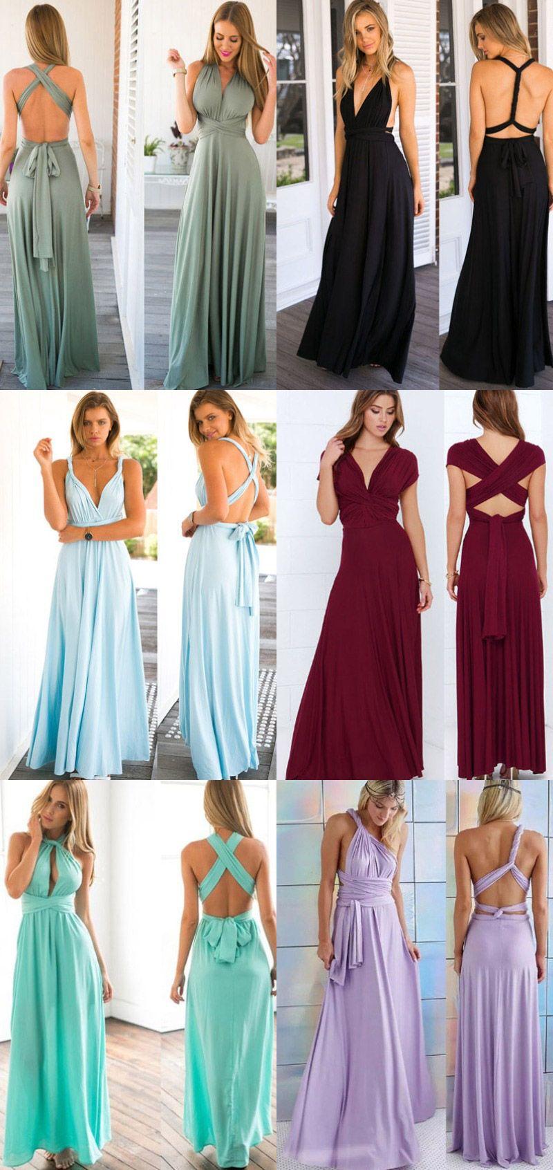 4bdba7391f4f89 Vestido Festa Madrinha Longo Multiformas De Amarrar - 11 Cores Disponíveis  | UFashionShop